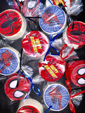 Spiderman Themed Chocolate Covered Oreos