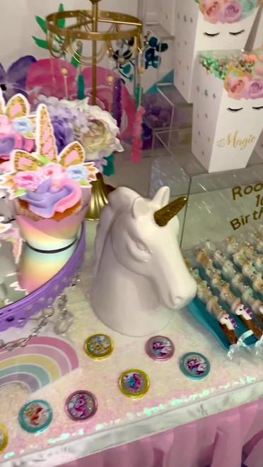Unicorn Themed Birthday Party