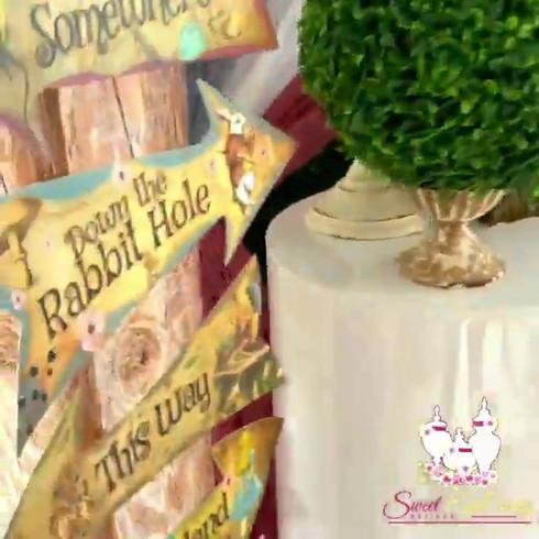 Alice in Wonderland Themed Dessert Table