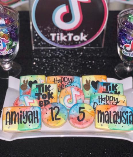 Tik Tok Themed Dessert Table