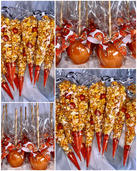 Basketball Themed Candied Popcorn and Candy Apples