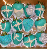 Tiffany & Co. inspired Chocolate Covered Strawberries