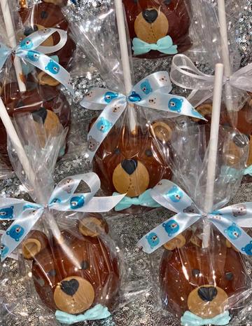 Teddy Bear Themed Candy Apples