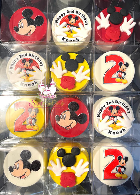 Mickey Mouse Themed Chocolate Covered Oreos