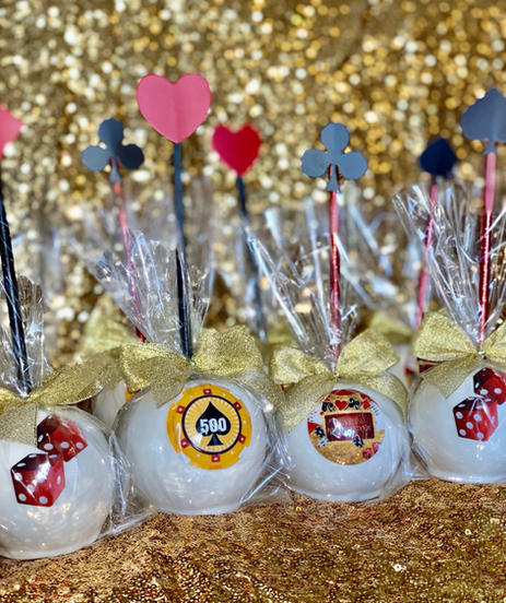 Casino Themed Candy Apples