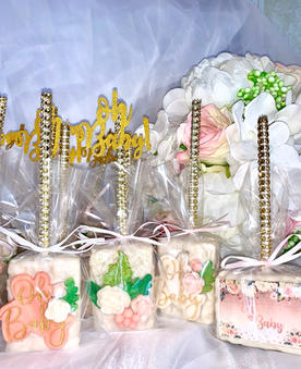 Oh Baby Themed Chocolate Covered Rice Krispies