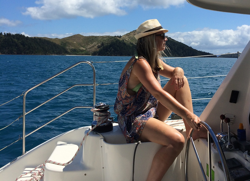 The helm is where you steer a yacht or catamaran from. Hire a bareboat in the Whitsundays
