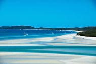 go bareboating and visit one of the world's best beaches Whitehaven Beach on your bareboat charter holiday