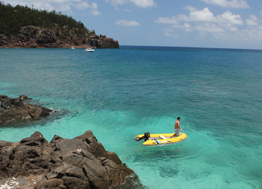 Every Whitsunday boat for hire comes with its own dinghy or tender so you can get to shore to explore Whitsunday beaches and islands