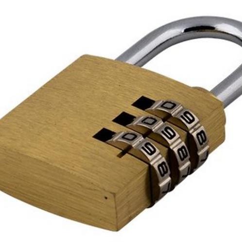 Combination lock brass x 2