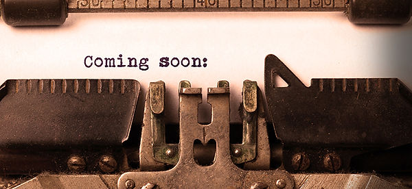 coming soon typewriter for newsletter.jp