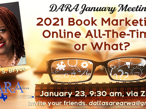 Jan 2021 -- Book Marketing: Online All-the-Time or What?