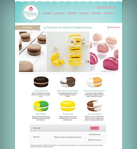 Patisserie Framboise Website