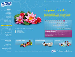 Renuzit Fragrance Sampler Website