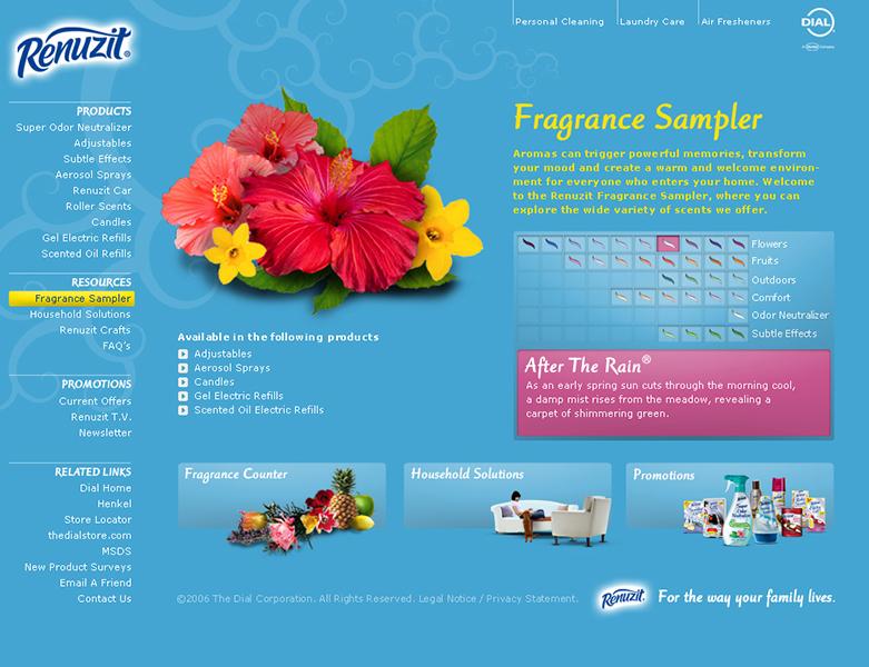 Renuzit Fragrance Sampler Website