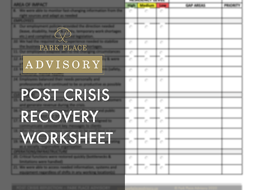 Post Crisis Recovery Assessment Worksheet