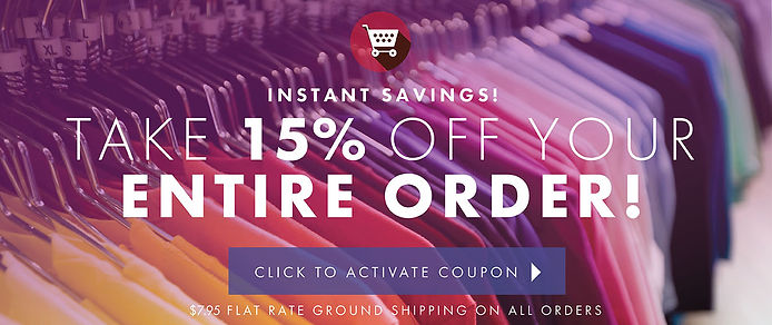 15% Off the entire order!