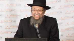 Harav Shmuel Kamenetsky speaks at the Kollel
