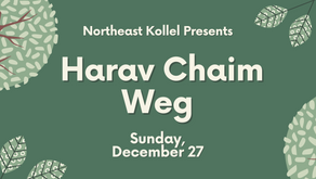 Save the Date! Special Choshen Mishpat Lecture for Men by Harav Chaim Weg
