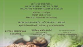 Pesach Halacha Series 5780