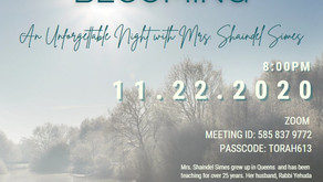 LINK EVENT! Overcoming, Becoming: An Unforgettable Night With Mrs. ShaindelSimes