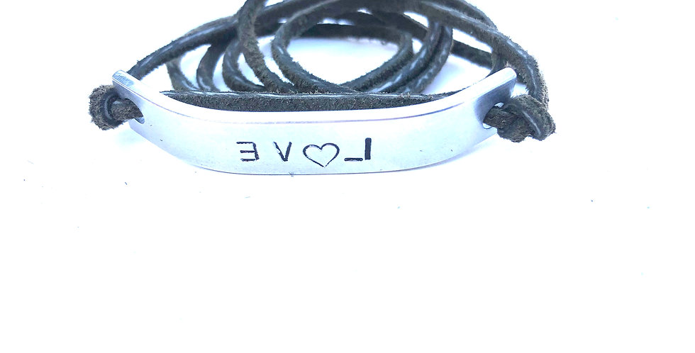 Suede Green Wrap EVOL Bracelet