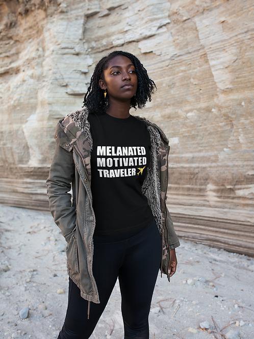 Melanated Motivated Traveler - Women's Relaxed T-Shirt