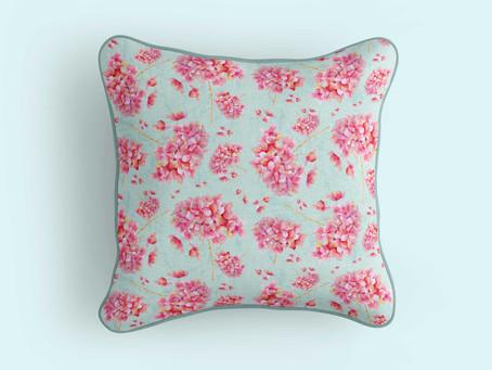 Pink Hydrangea Pattern