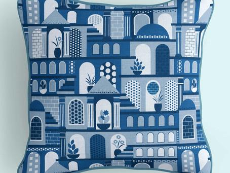 Spoonflower Challenge: Santorini in Classic Blue