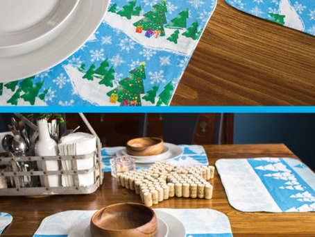 Make a Reversible Placemat with Winter Wonder Fabrics