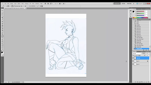 Photoshop: Speed-inking Process