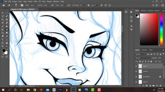 Inking Process - B. Orchid