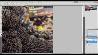 Photoshop: Cropping Godzilla
