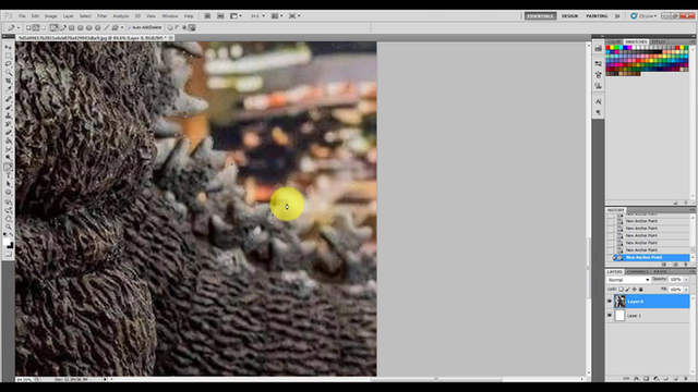 Photoshop: Cropping Godzilla