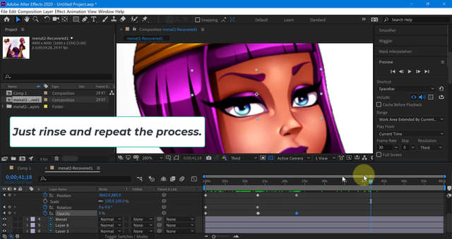 After Effect Tutorial: Menat (blink) tutorial
