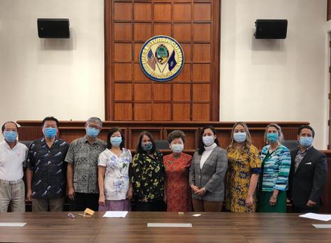 35th Guam Legislature Recognizes Republic of China (Taiwan) for Donation of 200K Face Masks