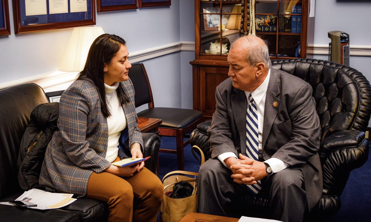 Vice Speaker Telena Cruz Nelson met with Congressman Gregorio Kilili C. Sablan of the Commonwealth of the Northern Mariana Islands in November to discuss federal education programs at his Washington D.C. office.