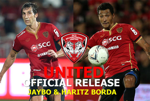 MUANG THONG UNITED RELEASE JAY BOTHROYD ARTIZ BORDA