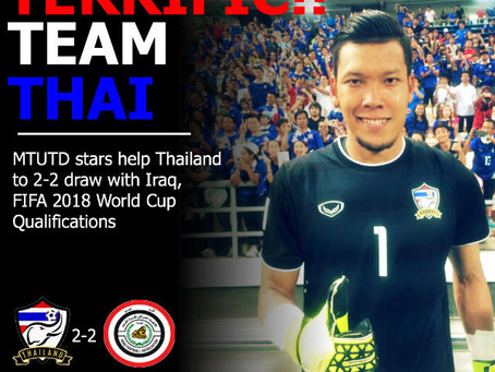 TERRIFIC TEAM THAI!! - Thailand come back from 2 goals down to draw with Iraq in FIFA World Cup qual