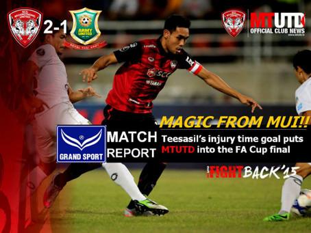 MAGIC!! - Teerasil's injury time goal puts MTUTD into FA Cup Final