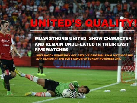 MUANGTHONG UNITED SHOW QUALITY DESPITE THE ODDS!!