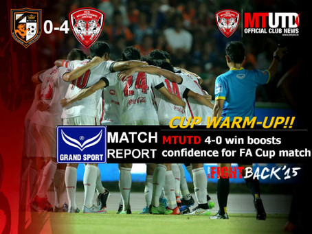 CUP WARM-UP: MTUTD 4-0 WIN BOOSTS CONFIDENCE AHEAD OF FA CUP SEMIFINAL