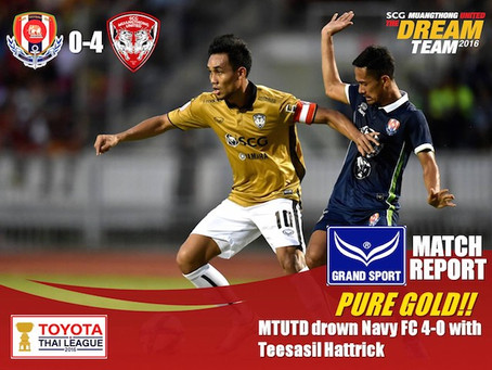 PURE GOLD!! - MTUTD confident 4-0 win over Navy FC