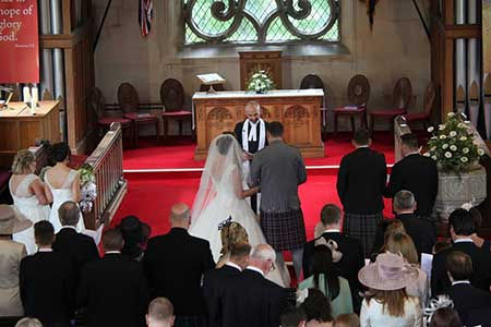 A wedding at Inverallan