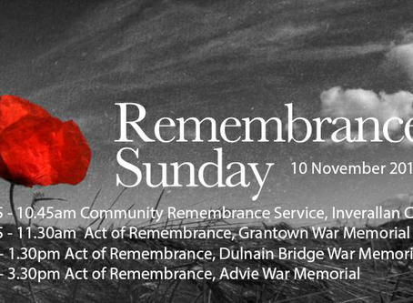 Our Remembrance Day services, Sunday 10th November