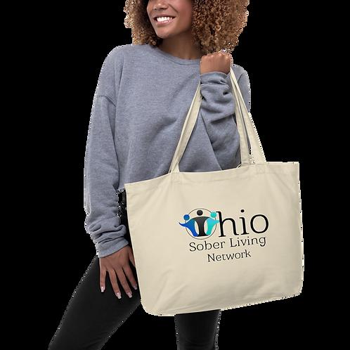 Ohio Sober Living Large organic tote bag