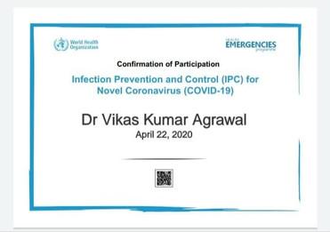 dr.vikas aggrawal certificate