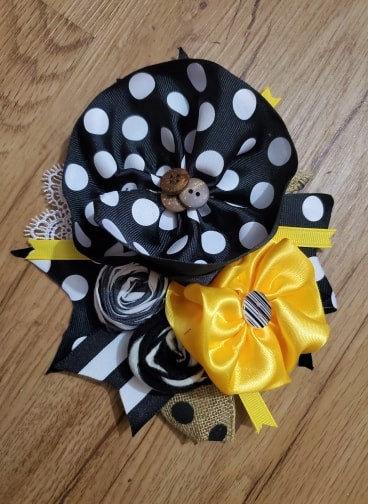 Black n Yellow Brooch