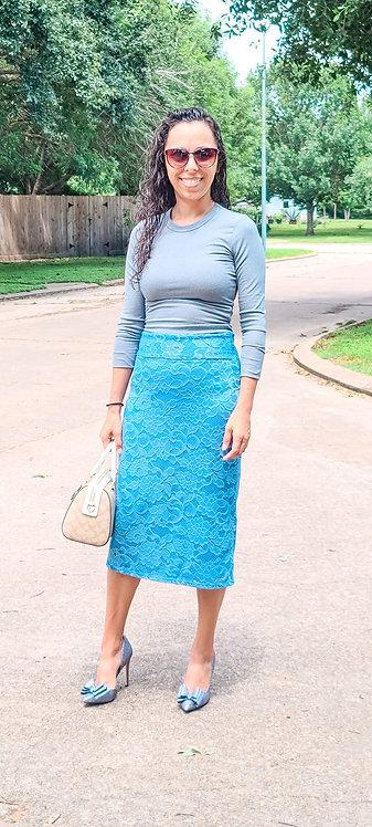 Miranda Lace Pencil Skirt