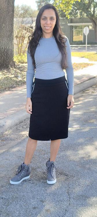 Amanda Black Athletic/Swim Skirt